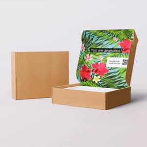 colorful inside printed box