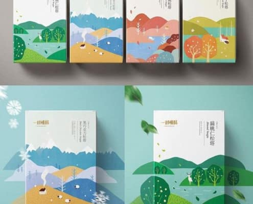 inspiration with japanese style on boxes