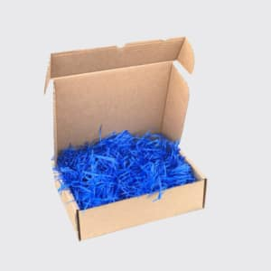 shredded paper blue