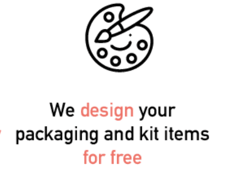 We design your packaging and kit items