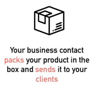 Your supplier packs your products in the packtory box and sends it to your clients