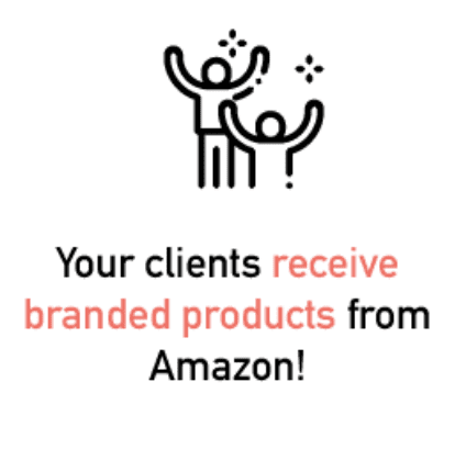 Your clients received branded products form Amazon FBA